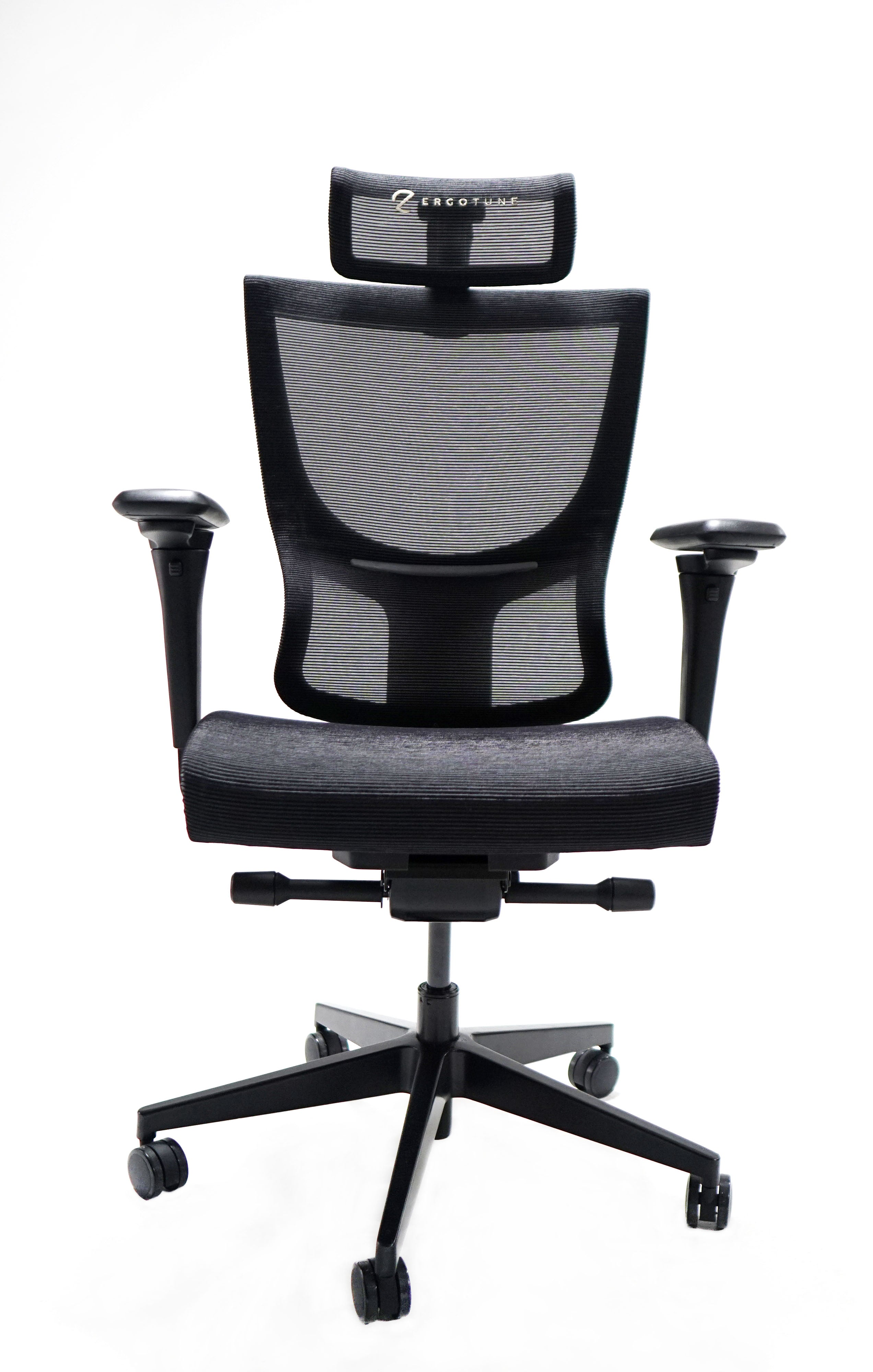 Fabric-mesh hybrid office chairs