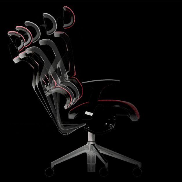 Ergonomic chair adjustable backrest recline angle and tension