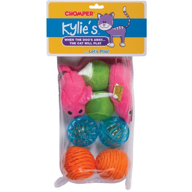 Multicolored  Assorted Cat Toys  Rubber/Plush