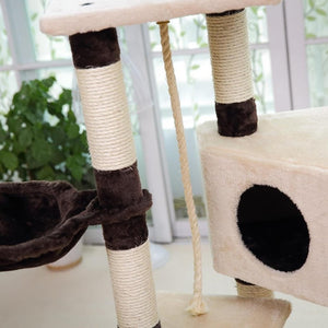 Multi-level Cat Towers with Scratchers and Toys
