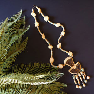 Pastel Wood Bead Necklace