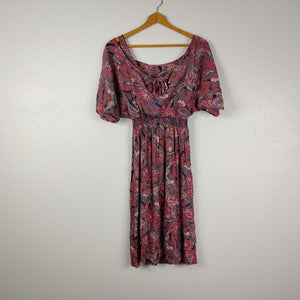Floral Rayon Blouson Dress