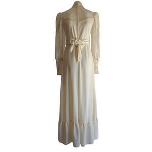 1970's Cream Prairie Dress