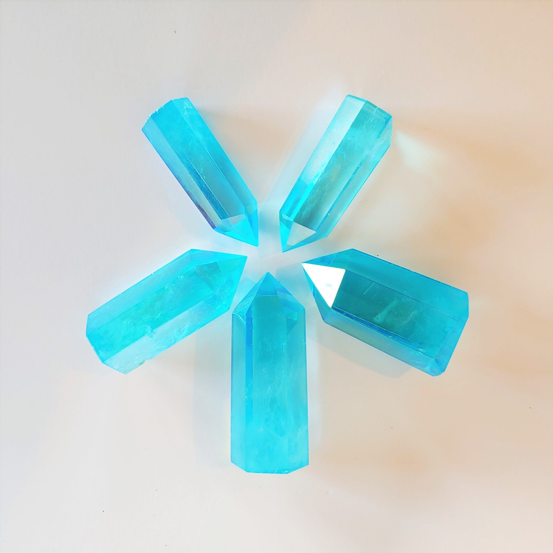 Aqua Aura Quartz Tower
