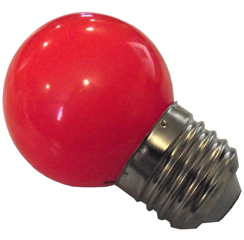 Red LED 1 watt brooder attraction bulb