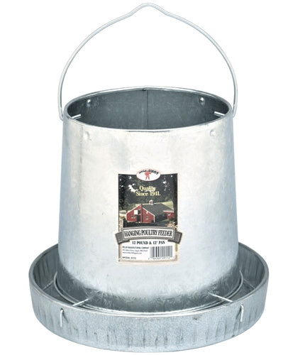 12 lb capacity galvanized metal poultry feeder