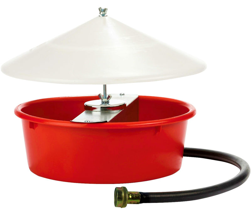 1.25 Gallon 5 Quart Automatic Poultry Waterer With Cover & Hose Chicken Drinker