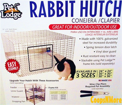 Miller Pet Lodge AH2424 wire cage rabbit hutch