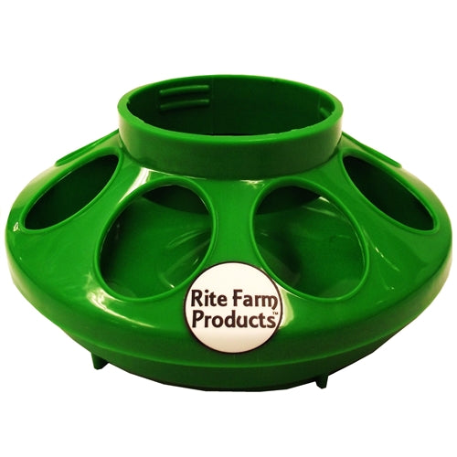 Rite Farm Products Green 8 Hole Chick Feeder Base