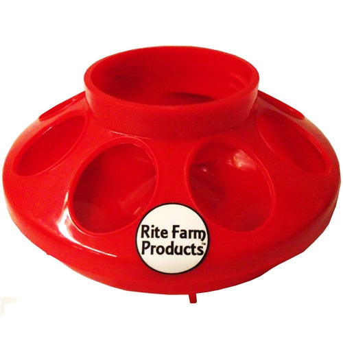 Rite Farm Products Red 8 Hole Chick Feeder Base