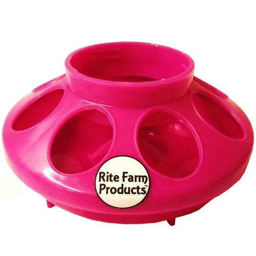 Rite Farm Products Pink 8 Hole Chick Feeder Base