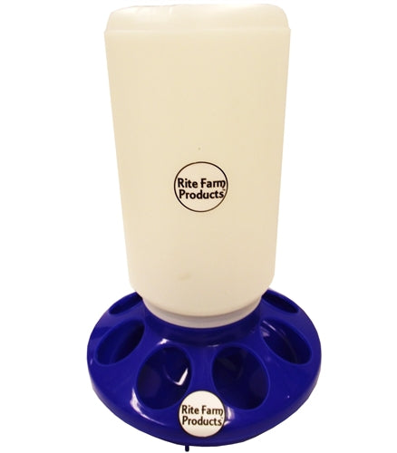 Rite Farm Products Blue Chick Feeder & Quart Jar