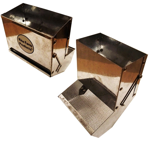 36oz Rite Farm Products 6 inch sifter base rabbit feeder No lid