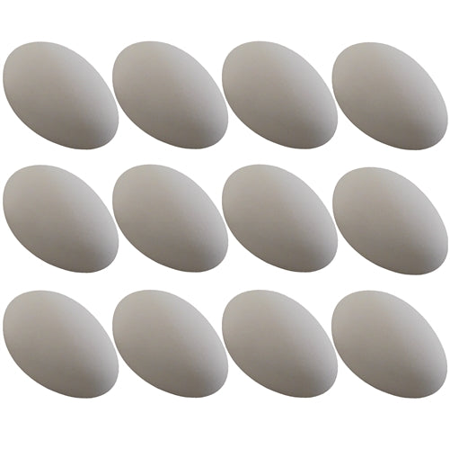 12 Pack White ceramic dummy Goose Duck size eggs