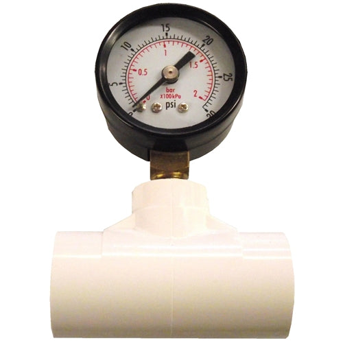 Pressure Gauge PSI & Tee For Poultry Rabbit Water Systems