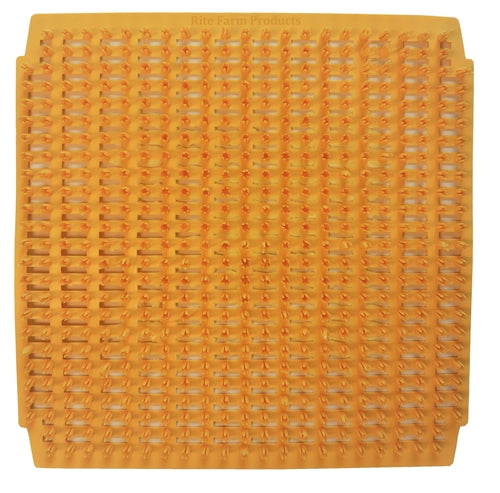 4 Pack of sunset wheat plastic egg nesting box pads