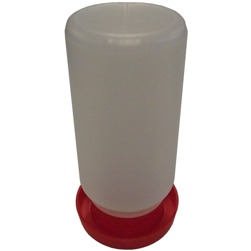Rite Farm Products Red Quail & Bantam Chick Safety Waterer Base & Quart Jar