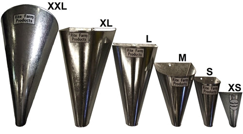 4 Pack Of Extra Extra Large restraining processing killing cone