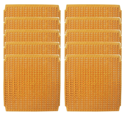 10 Pack of sunset wheat plastic egg nesting box pads