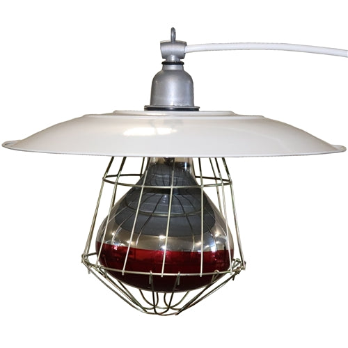 Industrial chick brooder lamp light fixture