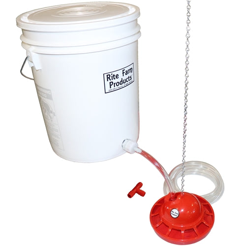 Rite Farm Products 5 Gallon Auto Pro Chick Waterer Complete Kit