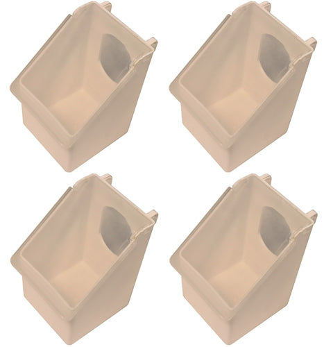 4 Pack of Plastic 1 Hole Quail, Pigeon, Dove, Bird Feeders
