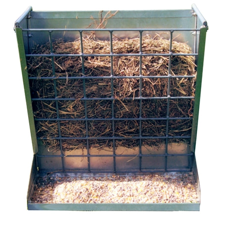Classic 2 in 1 Hook Over Goat Hay & Grain Feeder