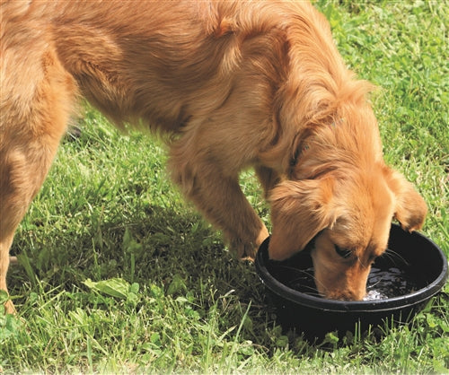 1 Gallon 4 Quart Rubber Feed Pan Pet Bowl Food Dish