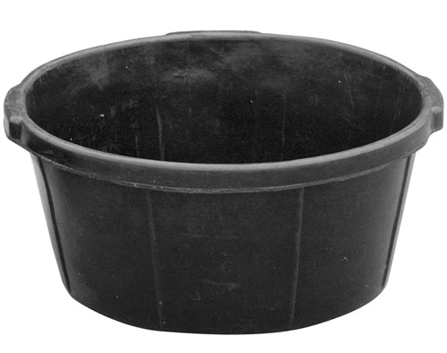 3 Pack Of 6.5 Gallon Rubber Feed Pans Livestock Food Bowl