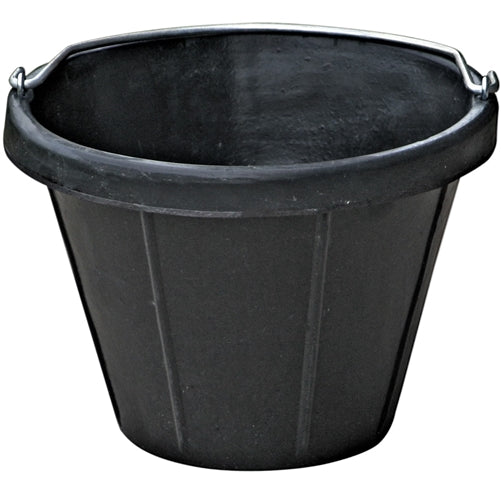 3 Pack Of 2.5 Gallon 10 Quart Rubber Feed Buckets Livestock Pail