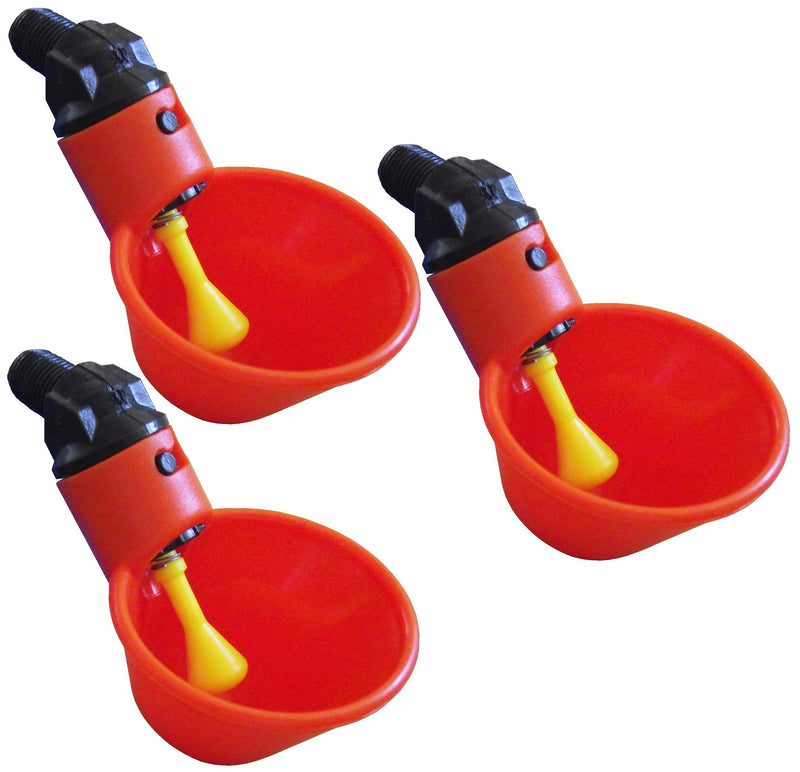 Orange Automatic Cup Style Poultry Chicken Drinkers