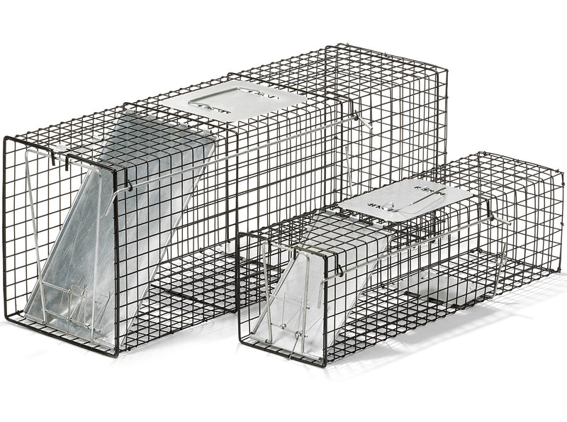 "COMBO 32"" & 24"" Live Animal Trap Cage Raccoon Rodent Squirrel Rabbit Mink Fox Rat"