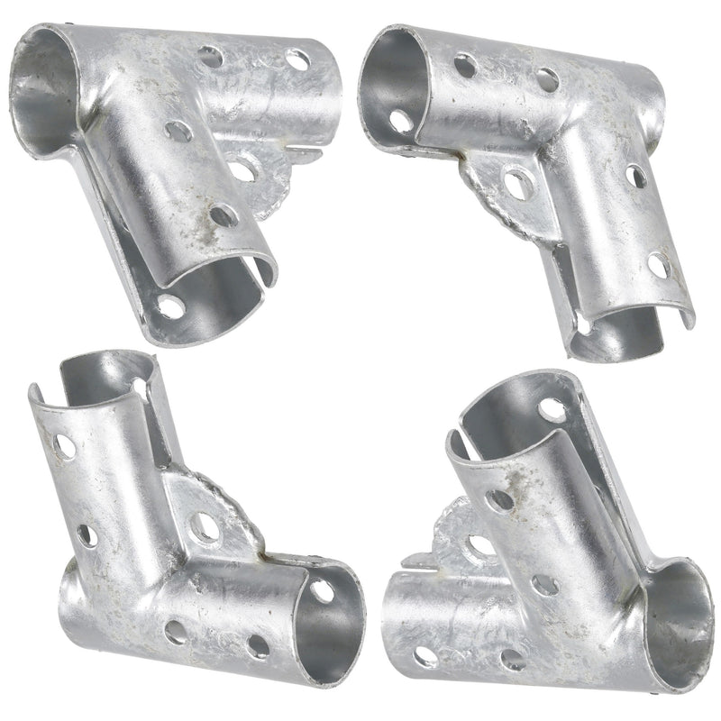 "4 Pack Of 1 3/8"" Gate Corner Elbows / Tee For Chain Link Fence & Canopy & 1"" PVC Pipe"