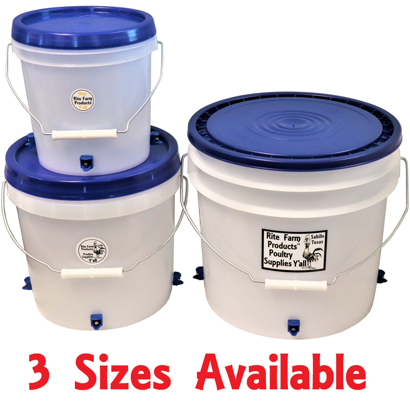 1 gallon chicken waterer with 4 poultry nipple drinker stations