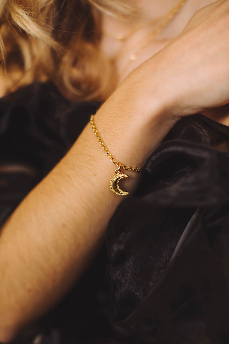 Crescent Moon Armband - Zilver