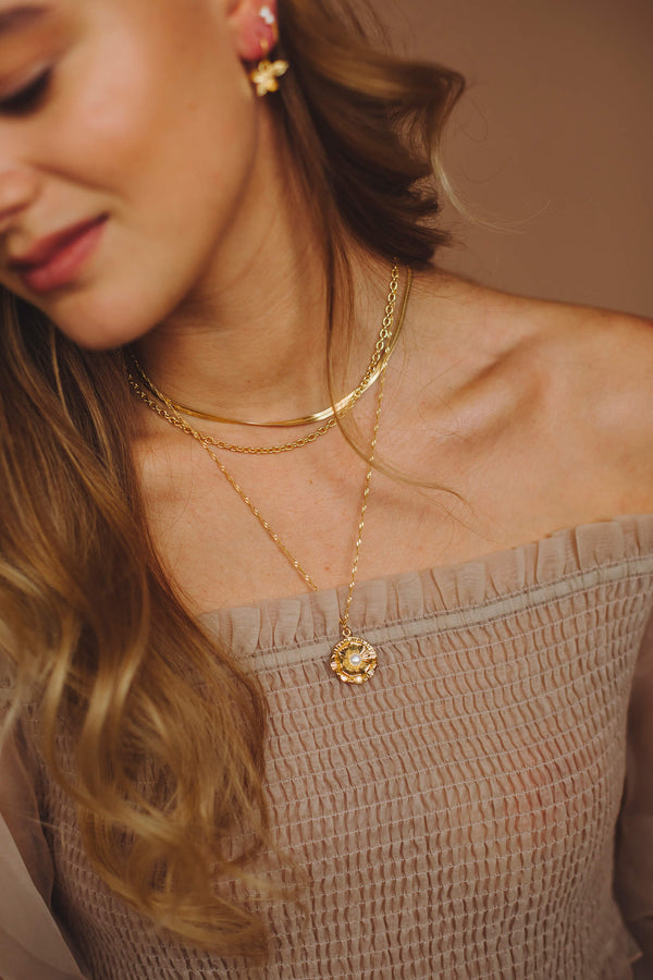 Serpent Chain Necklace - Gold