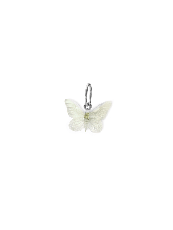 Glasswing Butterfly Pendant - Silver