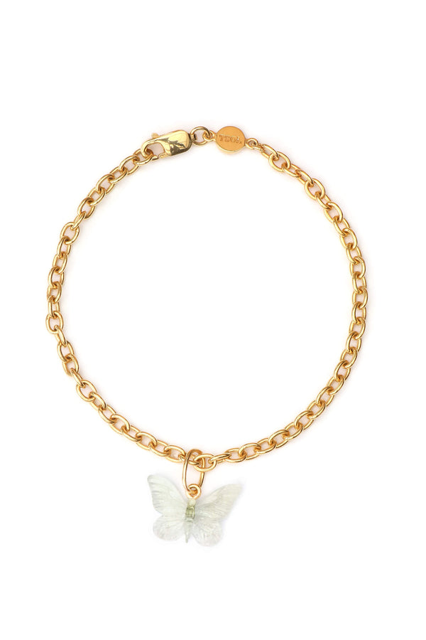 Glasswing Butterfly Bracelet - Gold