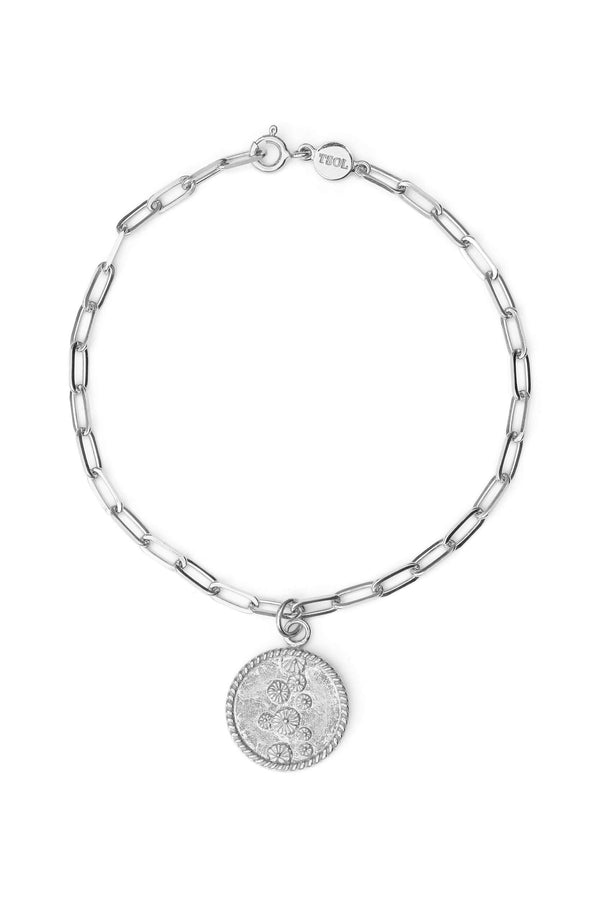 Lily Pad Coin Armband - Zilver