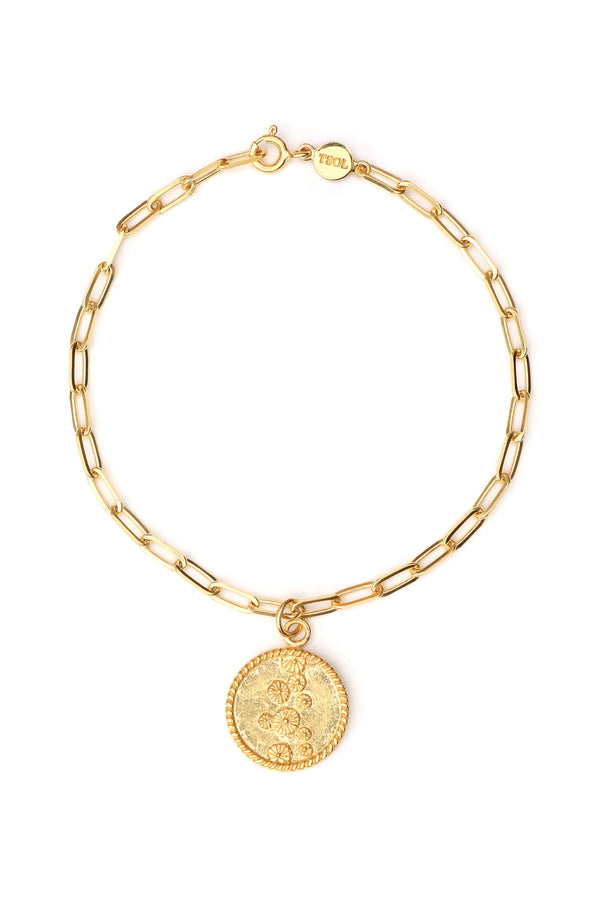 Lily Pad Coin Armband - Goud