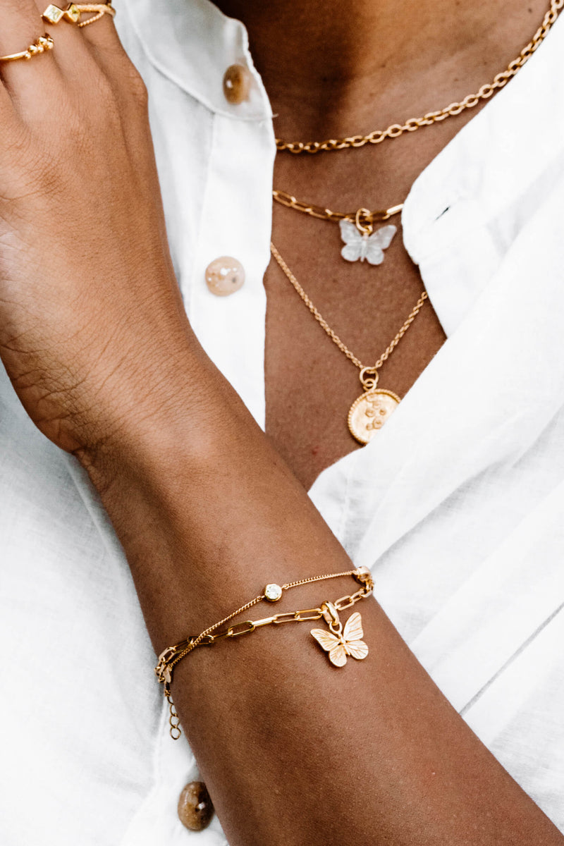 Butterfly Armband - Goud