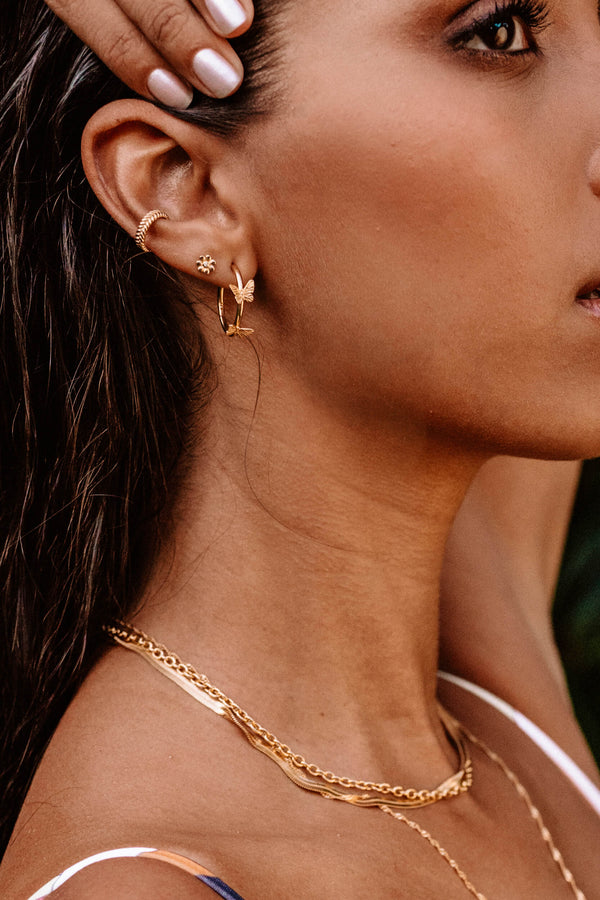 Fishbone Ear Cuff - Goud