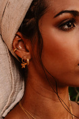 Orchid Hoops Earrings - Gold