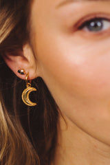 Crescent Moon Hoop Earring 1 piece - Silver