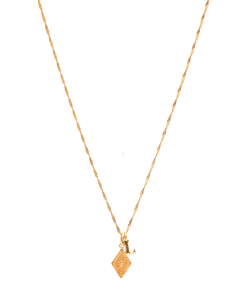 diamond-ketting-initiaal-goud