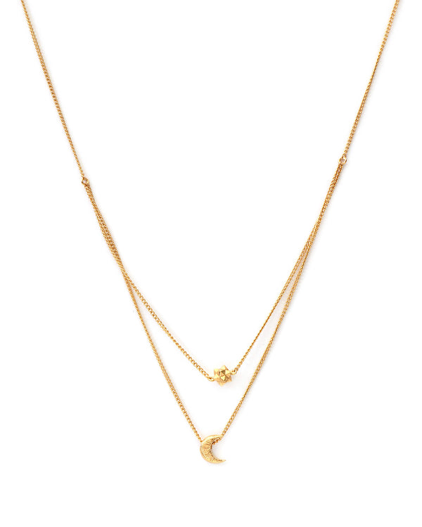 Double Galaxy Chain Ketting - Goud