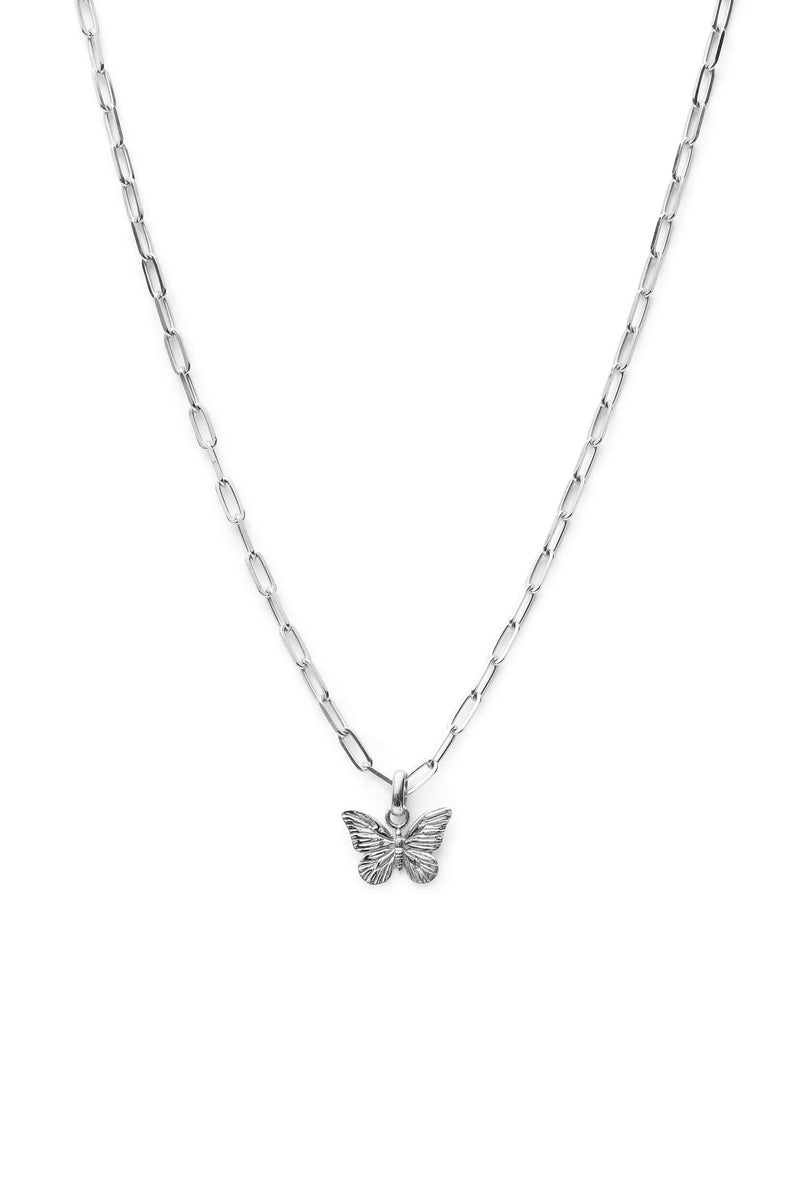 Butterfly Chunky Ketting - Zilver