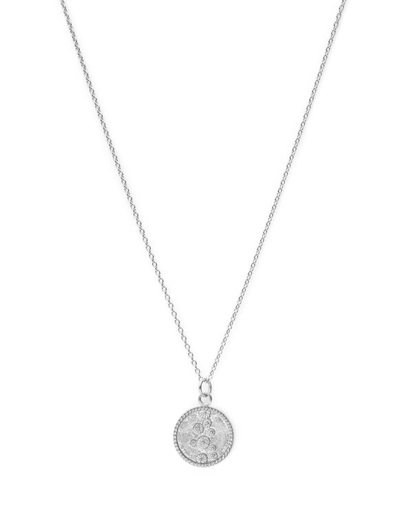Lily Pad Coin Ketting - Zilver