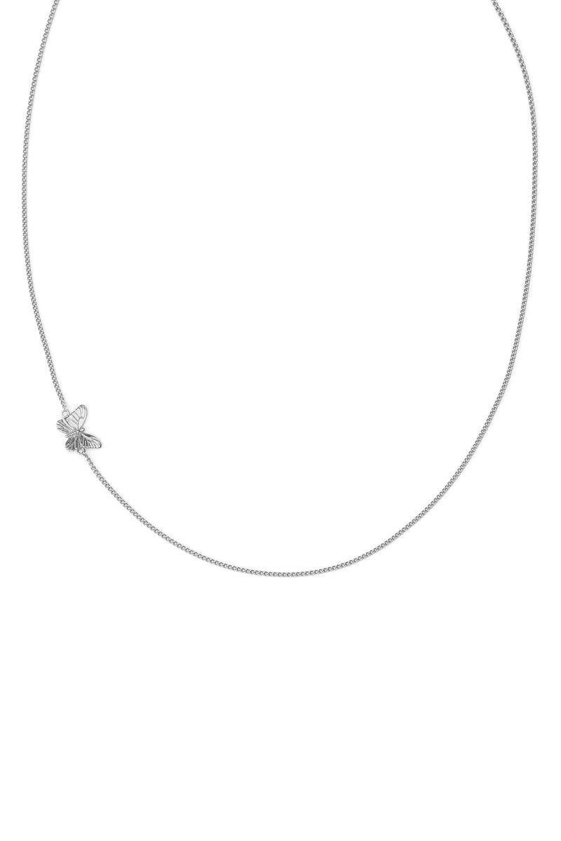 Minimal Chain Butterfly Ketting - Zilver