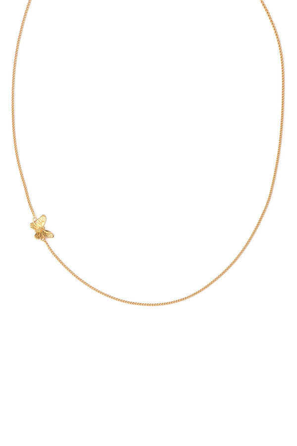 Minimal Chain Butterfly Ketting - Goud